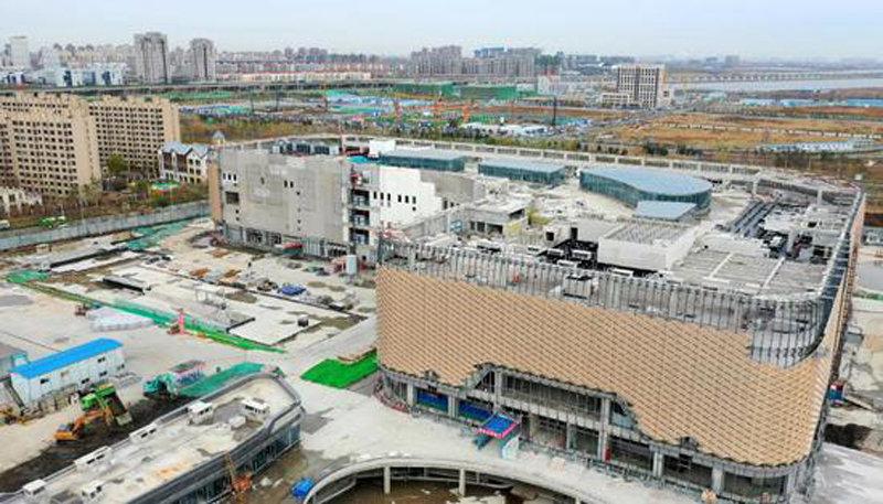 生态城爱琴海购物公园预计明年4月完工