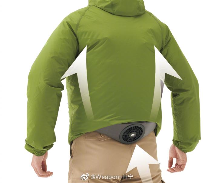 腰包式便携空调,USB电池供电,外部吸气