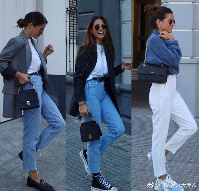 西班牙博主marvaldel 日常私服穿搭:浅蓝色牛仔裤的搭配指南