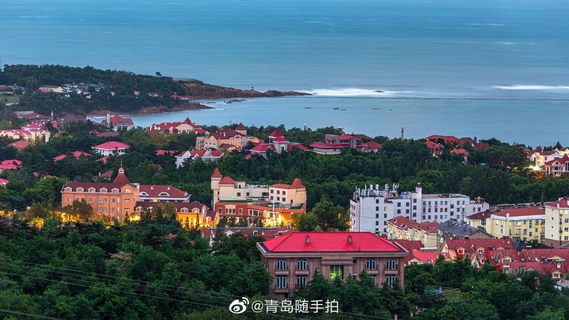 黄海之滨,山海之城,红瓦绿树,碧海蓝天,夜色撩人,流连忘返