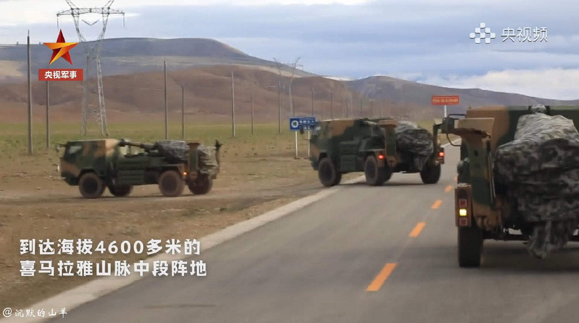西藏军区多兵种多火器协同打击演练现场