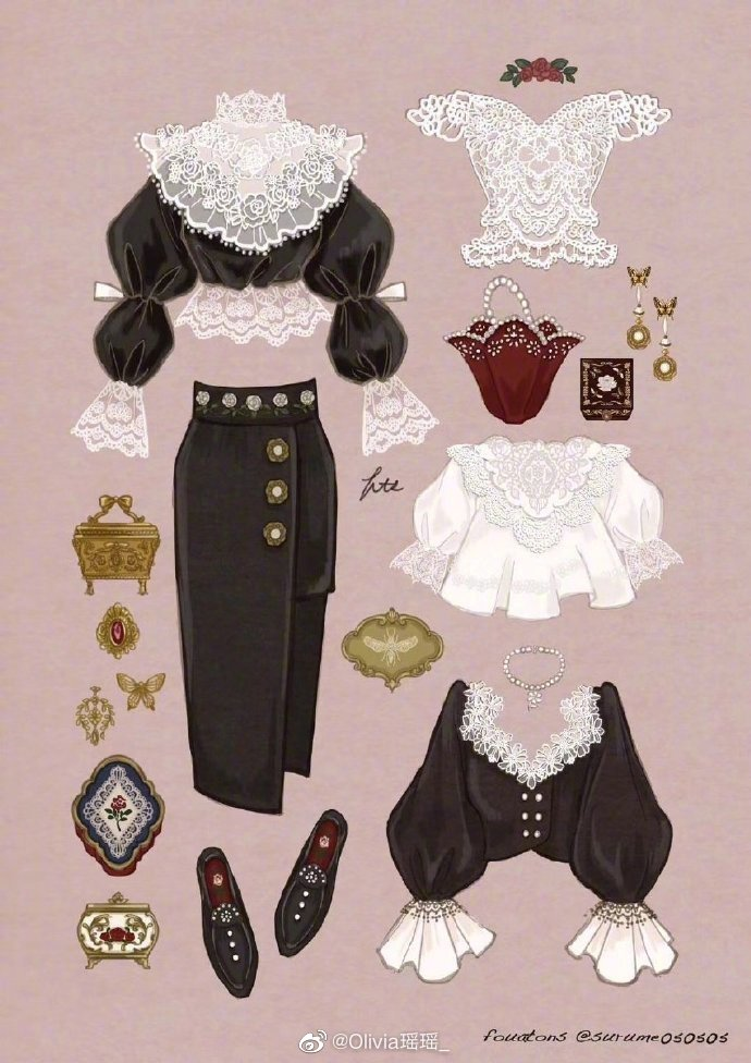 惊艳了岁月的复古穿搭,少女范十足,精致出街的日常。