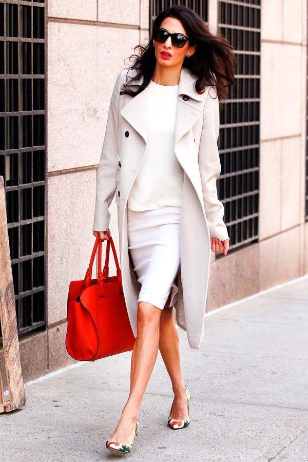 律政佳人Amal Clooney的时尚穿搭———她的职场穿搭一直是干练、利落