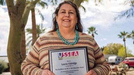 亚利桑那州小学美术老师荣获美国艺术教育学会大奖