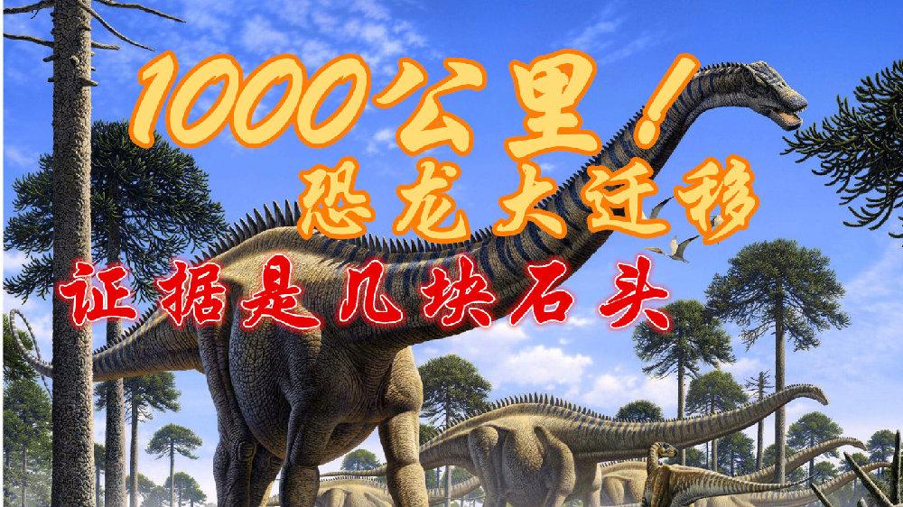 巨型恐龙迁移1000公里,证据竟是小石头!