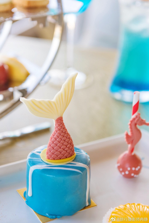 新出的海洋主题下午茶创意呆萌的造型好可爱@三亚亚龙湾万豪度假酒