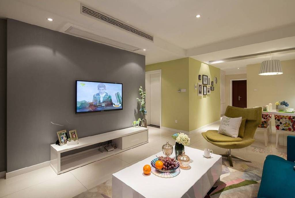 105m²现代简约风格家居装修设计案例,深浅色系的巧妙搭配