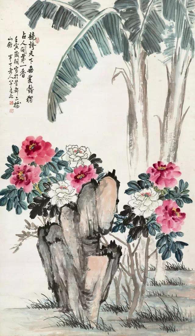 陈半丁花鸟作品欣赏 陈半丁(1876--1970)即陈年,画家……