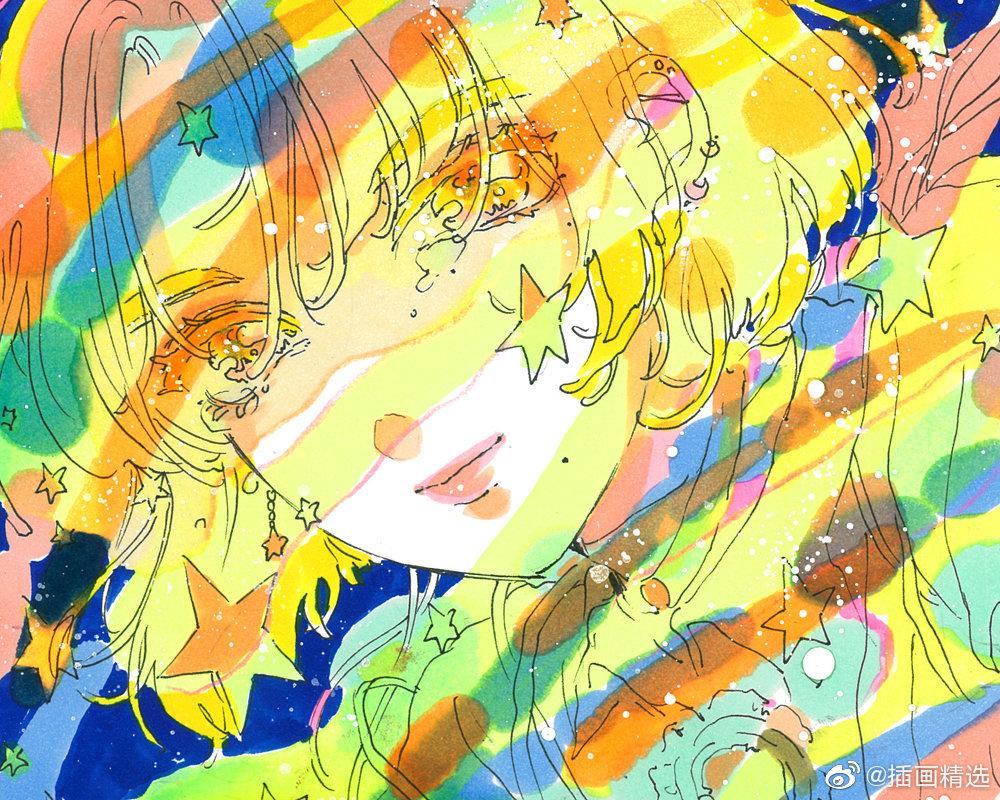 插画师cyoooooon的一组插画,梦幻唯美的插画作品