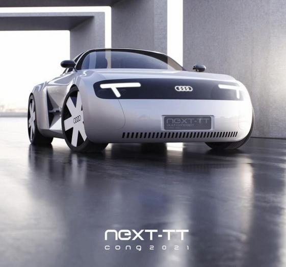 燃油版停产消息后,疑似电气化TT渲染图曝光,造型充满科幻感