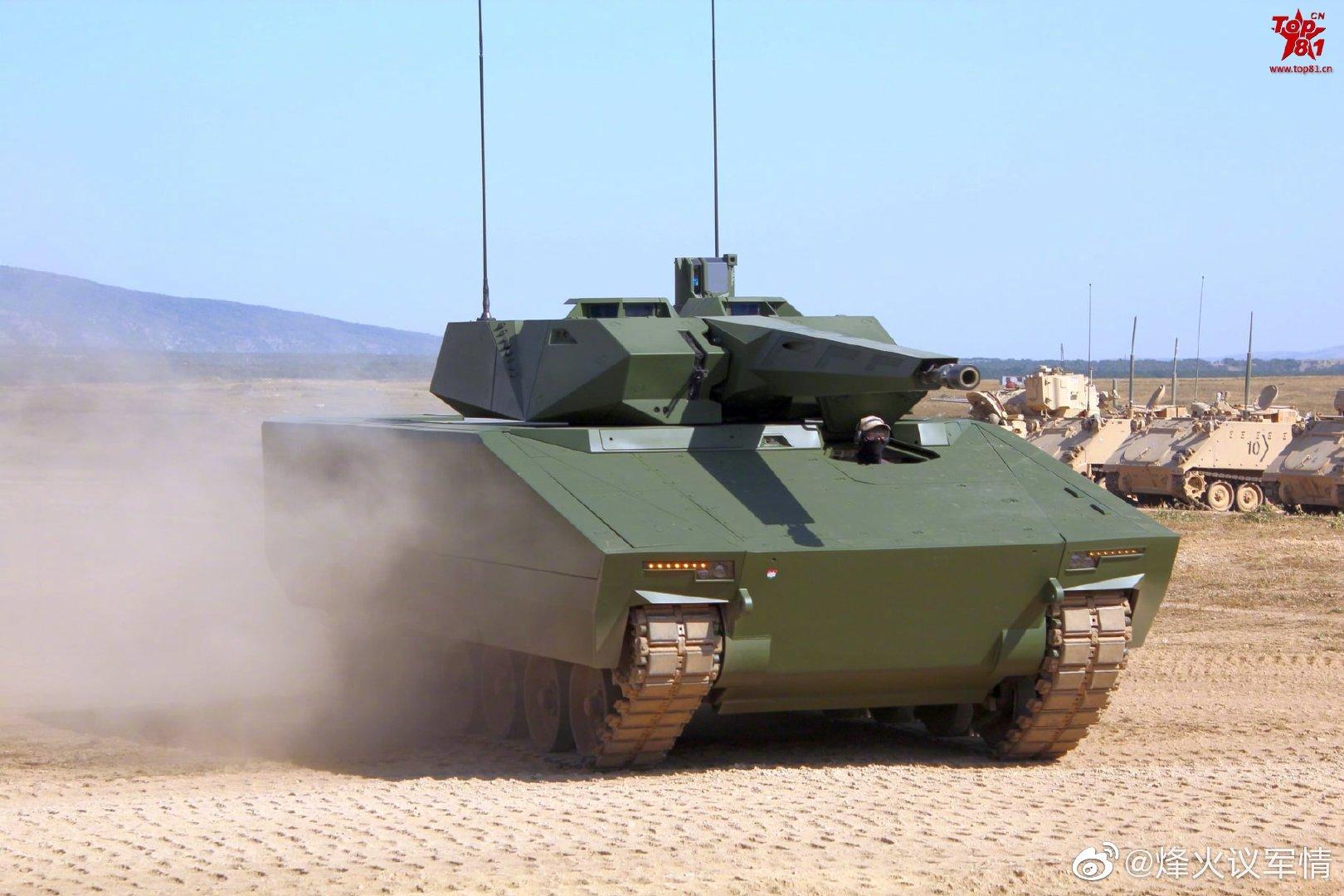 """匈牙利KF41""""山猫""""步兵战车的科技感还是很强的"""
