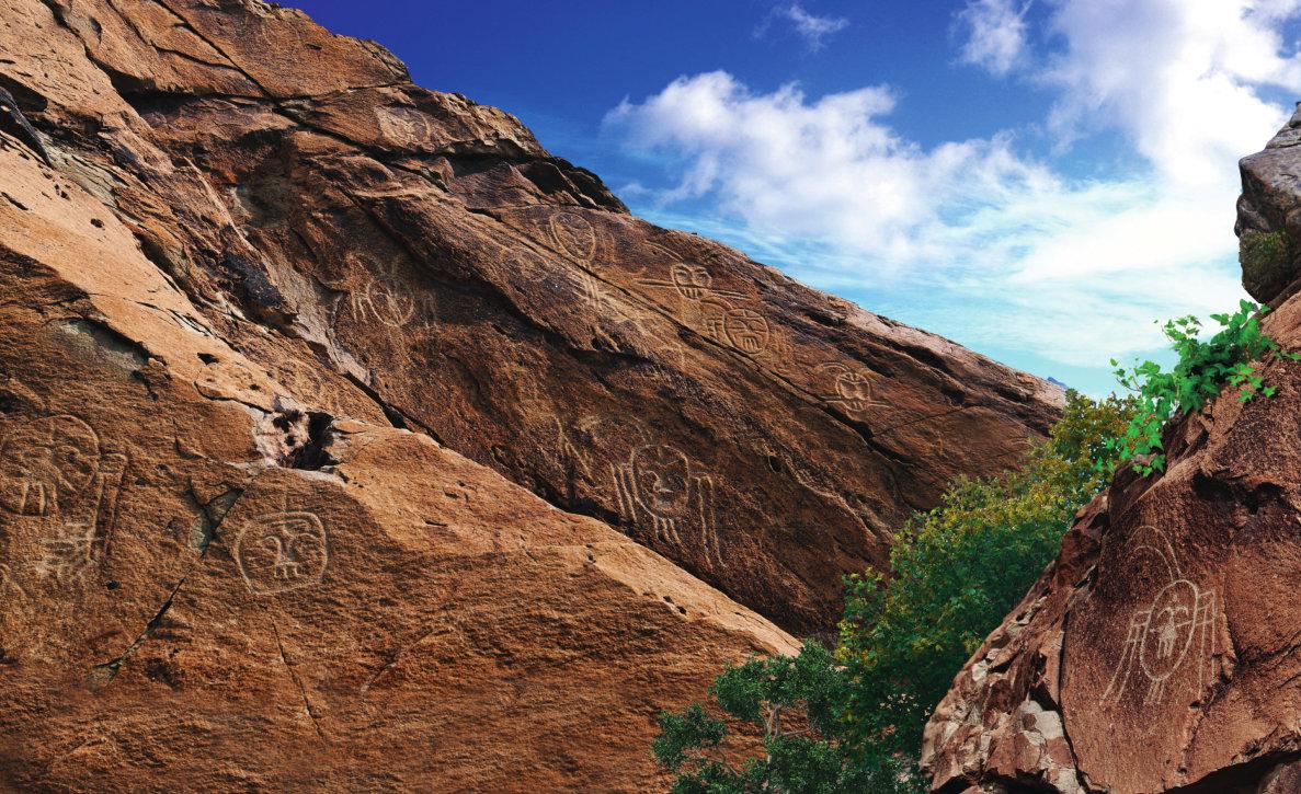 """贺兰山上的""""人面像岩画""""是什么?来自远古的视野"""