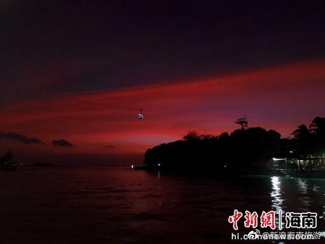 陵水新村渔港夜景美如画