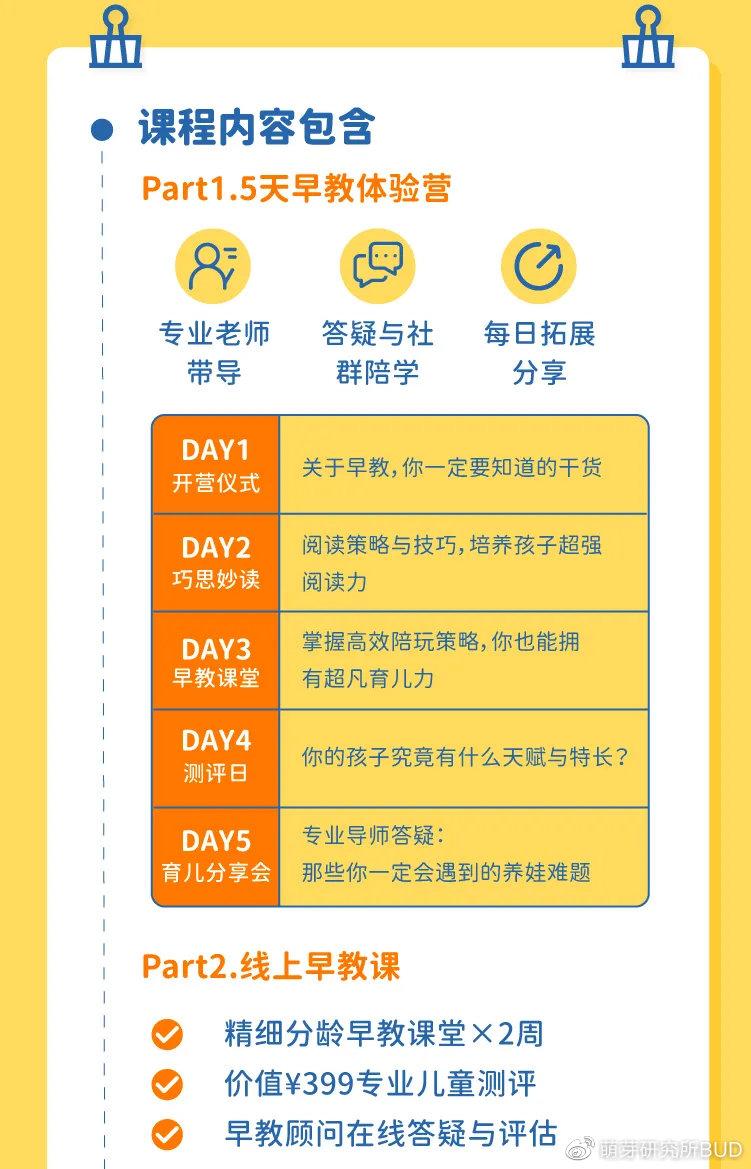 价值¥798元早教营限时免费报名,5天专业老师助你发现孩子的过人