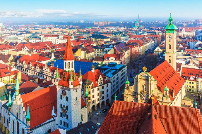 中世纪最典雅的艺术文化名城——慕尼黑。