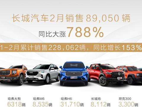 长城汽车2月销售8.9万辆,俄罗斯市场中国品牌排名第一
