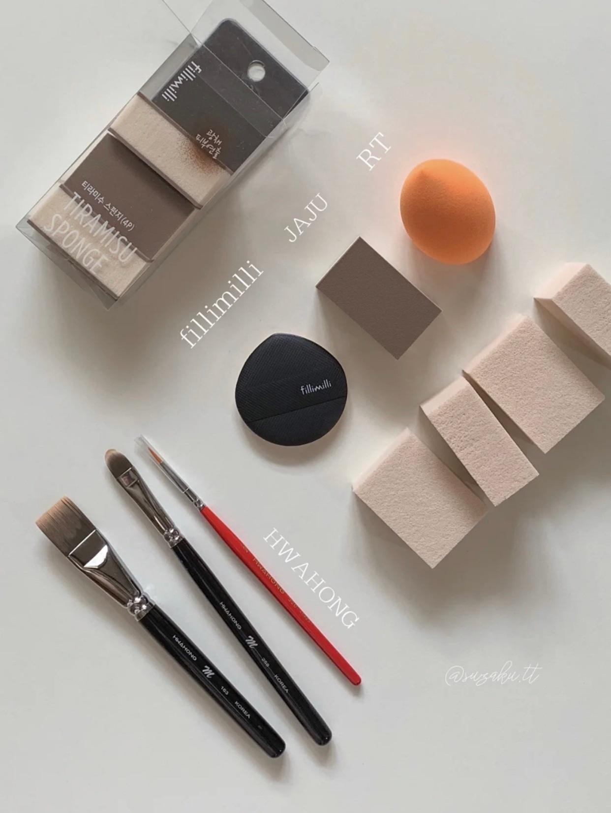 韩国化妆师推荐的底妆工具