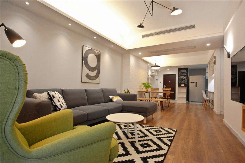 80㎡简约北欧风格二居室丨木哉设计