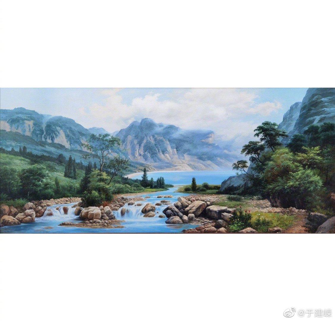 喻治国油画作品—《时来运转聚宝盆》 大画180.80cm 此作