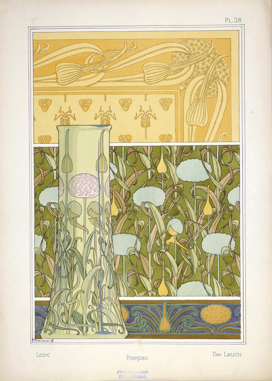 新艺术风格植物纹案:Maurice Pillard Verneil(1869-1942)