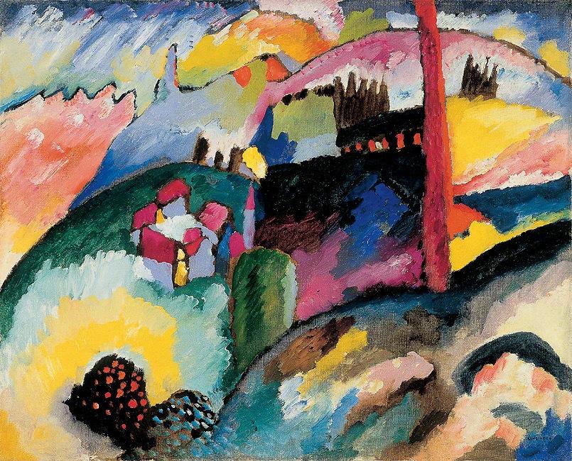 瓦西里·康定斯基与彼埃·蒙德里安和马列维奇一起被认为是抽象艺术的先
