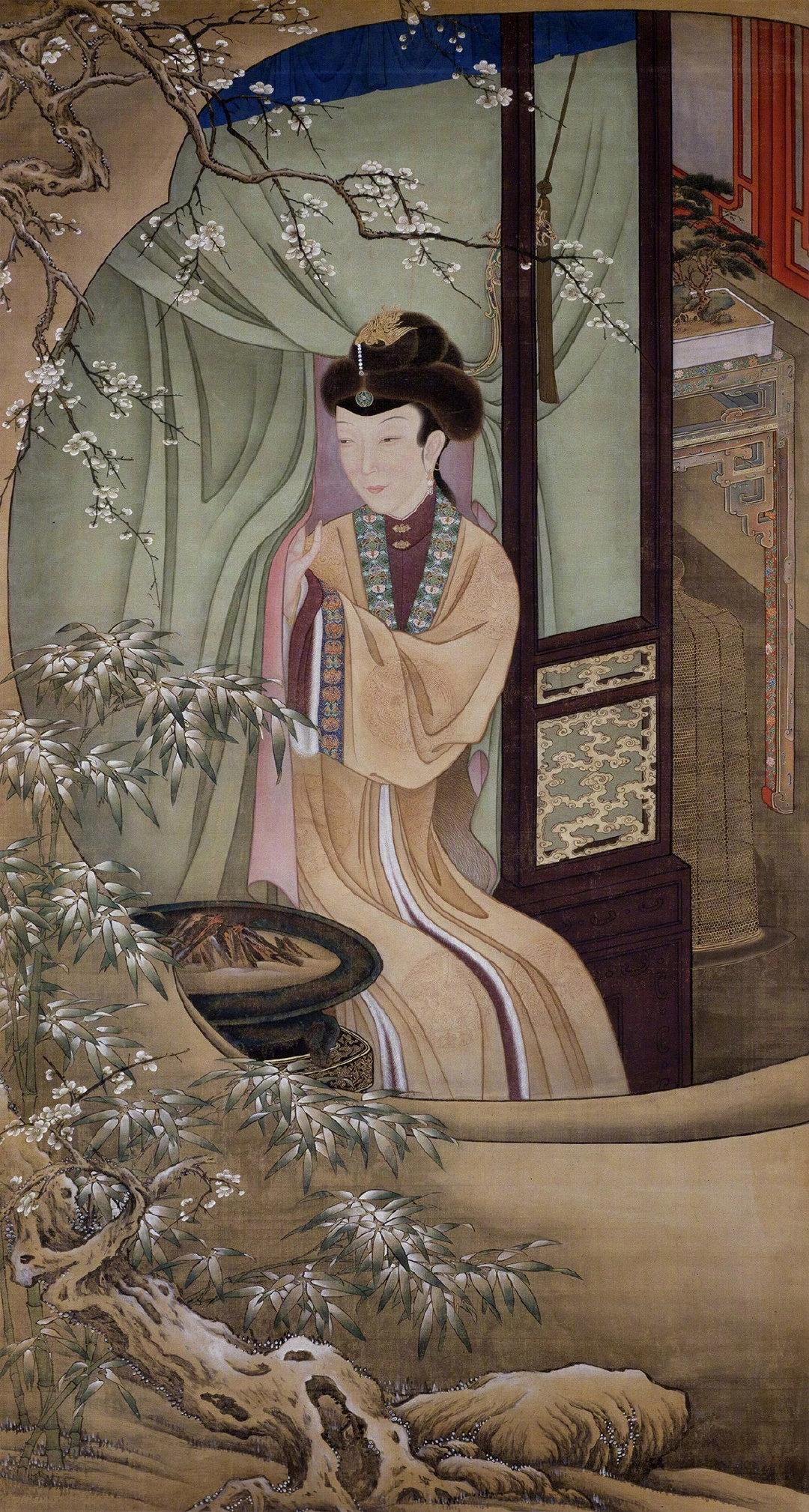 清雍正时期美人群像《十二美人图》,现藏于@故宫博物院