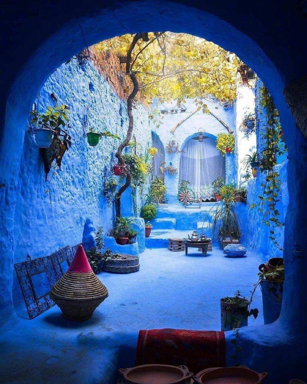 摩洛哥,蓝调风情小镇。