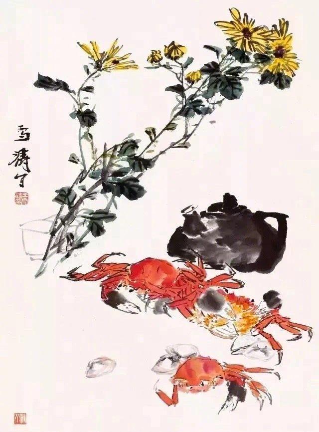 王雪涛善于描绘花鸟世界的丰富多彩和活泼生气