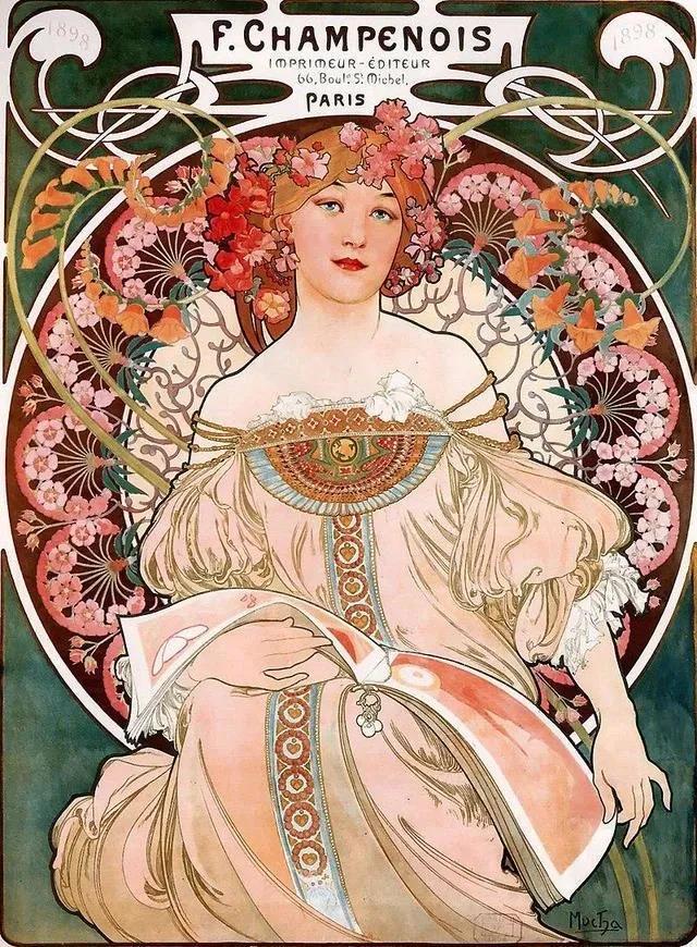 十九世纪的画家中最贴近现代人审美的--阿尔丰斯·穆夏