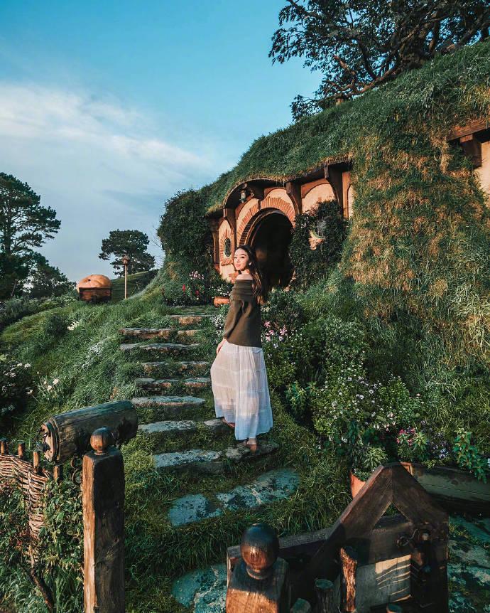 新西兰玛塔玛塔小镇,霍比特人之家。