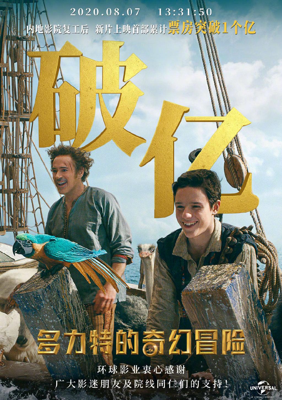 小罗伯特·唐尼主演的家庭/冒险片《多力特的奇幻冒险》在中国内地上映