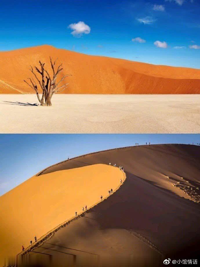 这里是纳米比亚,拥有世界上最美、最古老的红沙漠