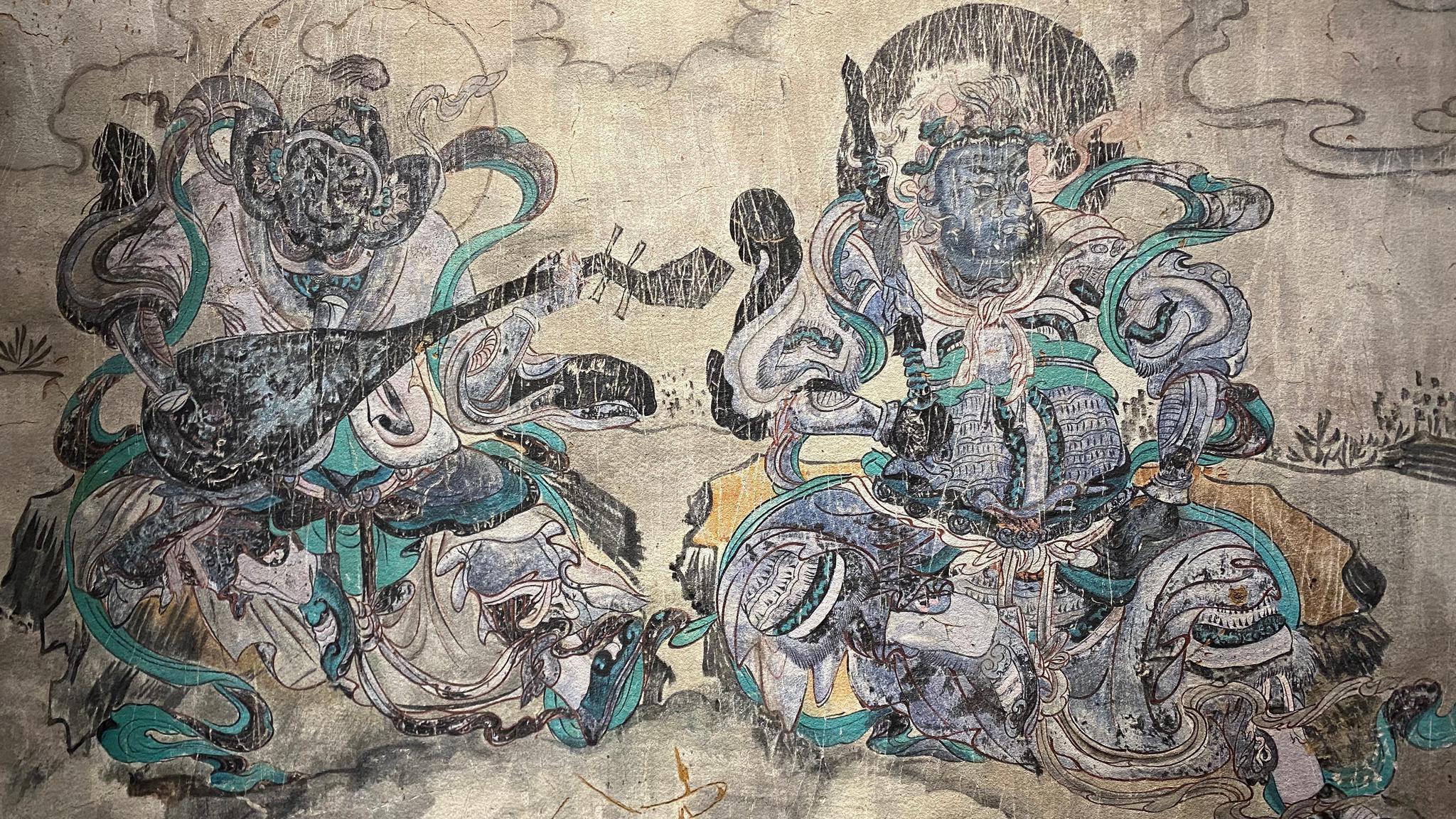 内蒙古鄂尔多斯阿尔寨石窟的元代壁画