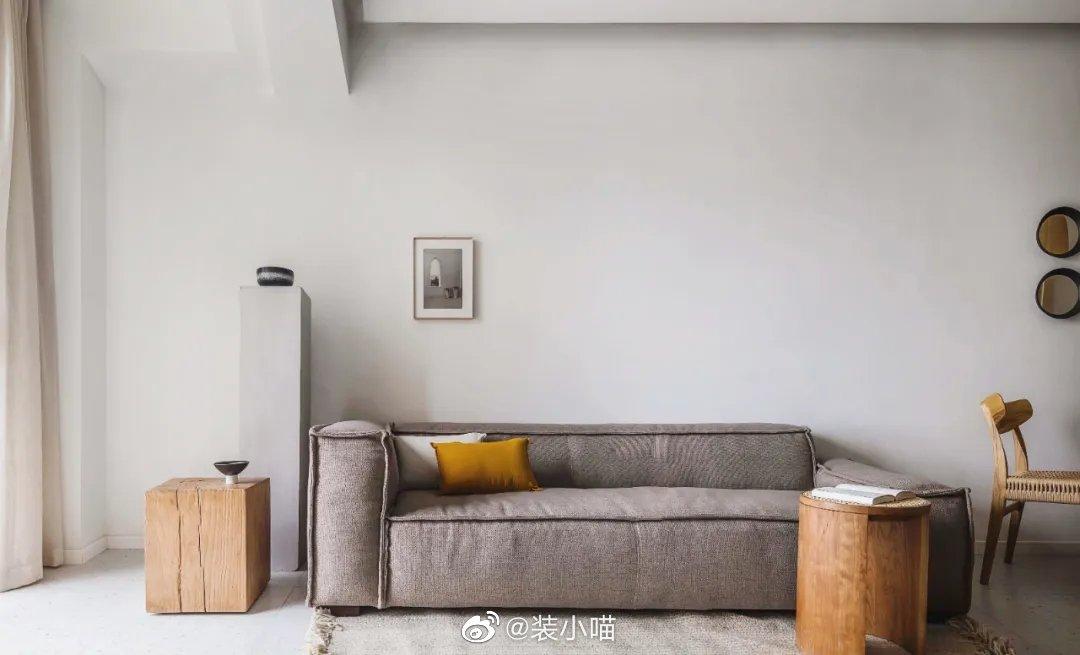108㎡自然风的家,原木、白墙、玻璃,实用不单调。