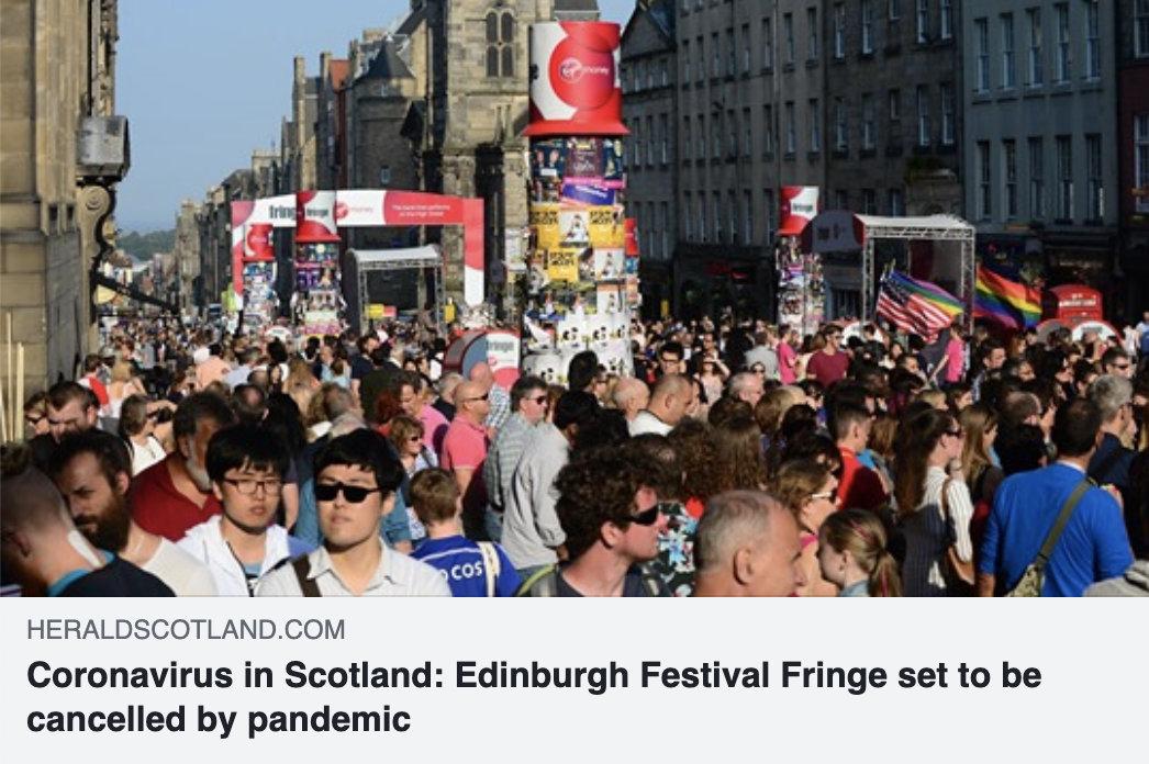 今年爱丁堡取消或已成定局。等艺术节组委会最终确认......💔