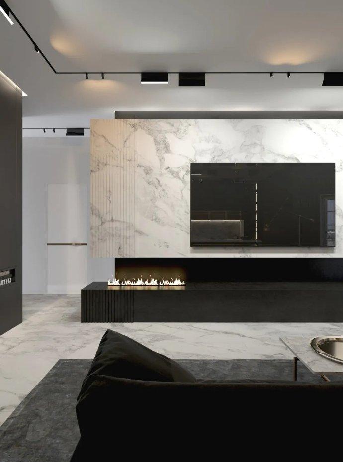 高级黑+极简白的质感奢华