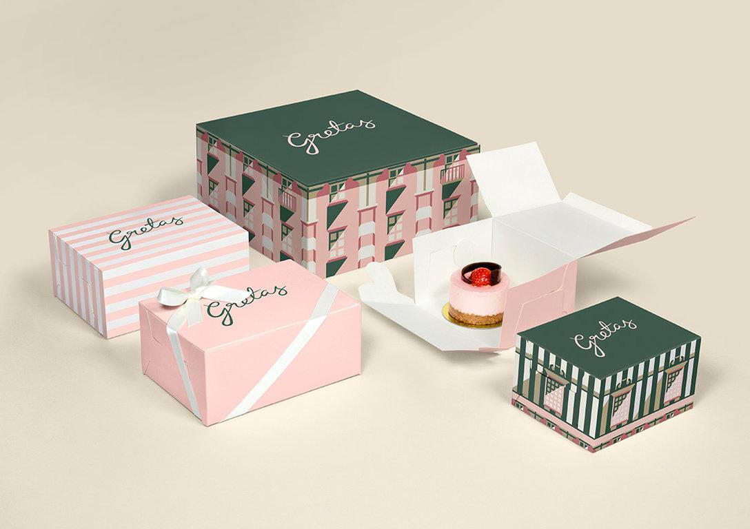 格雷塔斯甜品店logo设计及视觉品牌VI设-海中鱼