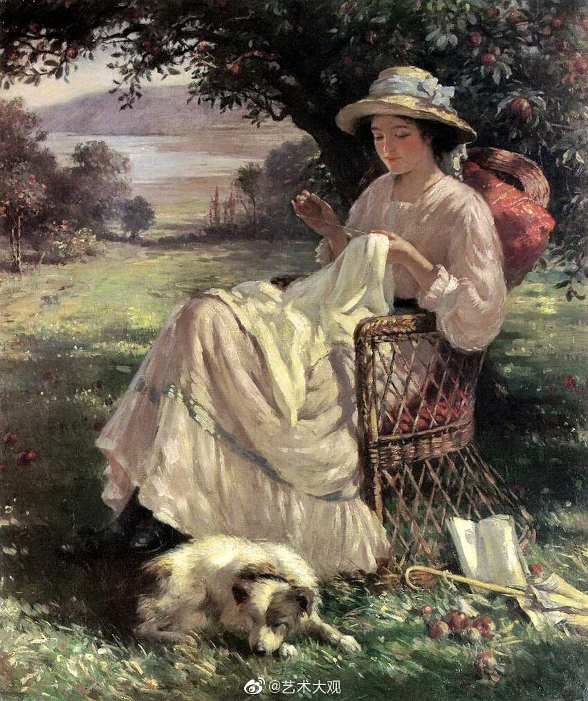 闲逸生活   英国画家威廉·凯·布莱克洛克油画作品欣赏-1William Kay