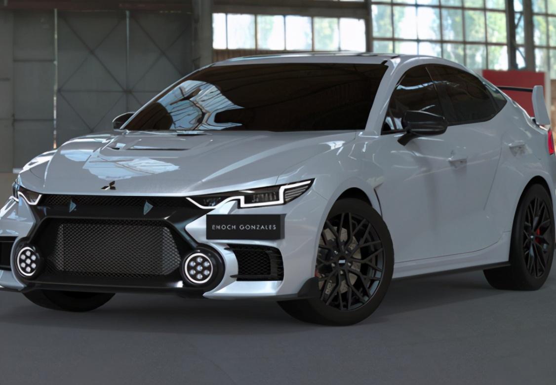 三菱性能神车重生!新一代EVO曝光,或搭2.0T动力,大尾翼是亮点