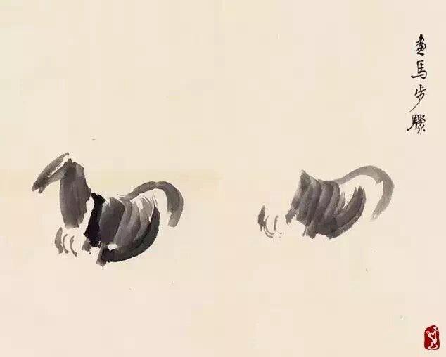 徐悲鸿国画马、的画法步骤