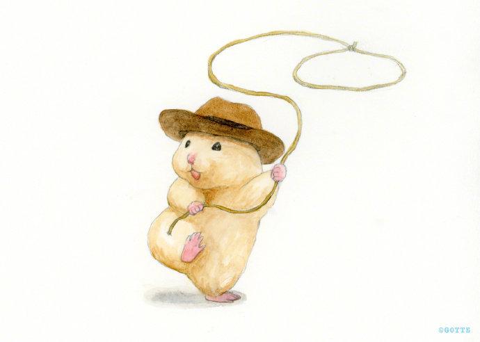 🐹超级治愈的小仓鼠插画,简直太萌了。 画师Twitter: ap_hamham