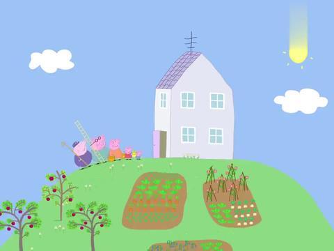 小猪佩奇:黑莓非常的好吃,猪爷爷却很不喜欢,想把树砍掉!