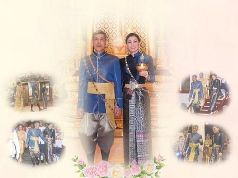 """泰王和苏提达加冕纪念日亮相!穿""""情侣装""""好威风,王后不计前嫌"""