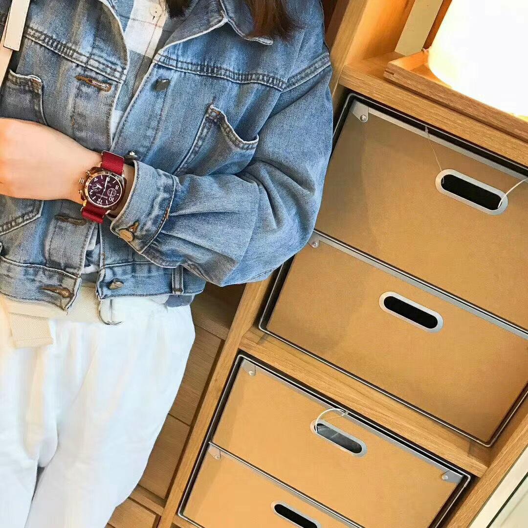 周冬雨同款,briston法国时尚尼龙带腕表,实物比图片还要漂亮!!