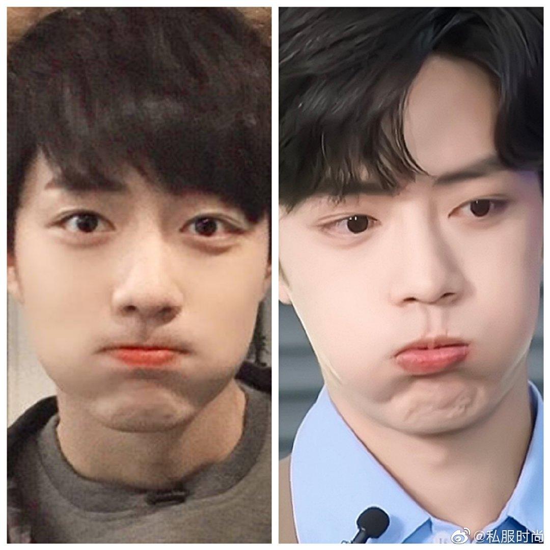 同一角度,相似的表情,时间见证他的成长~