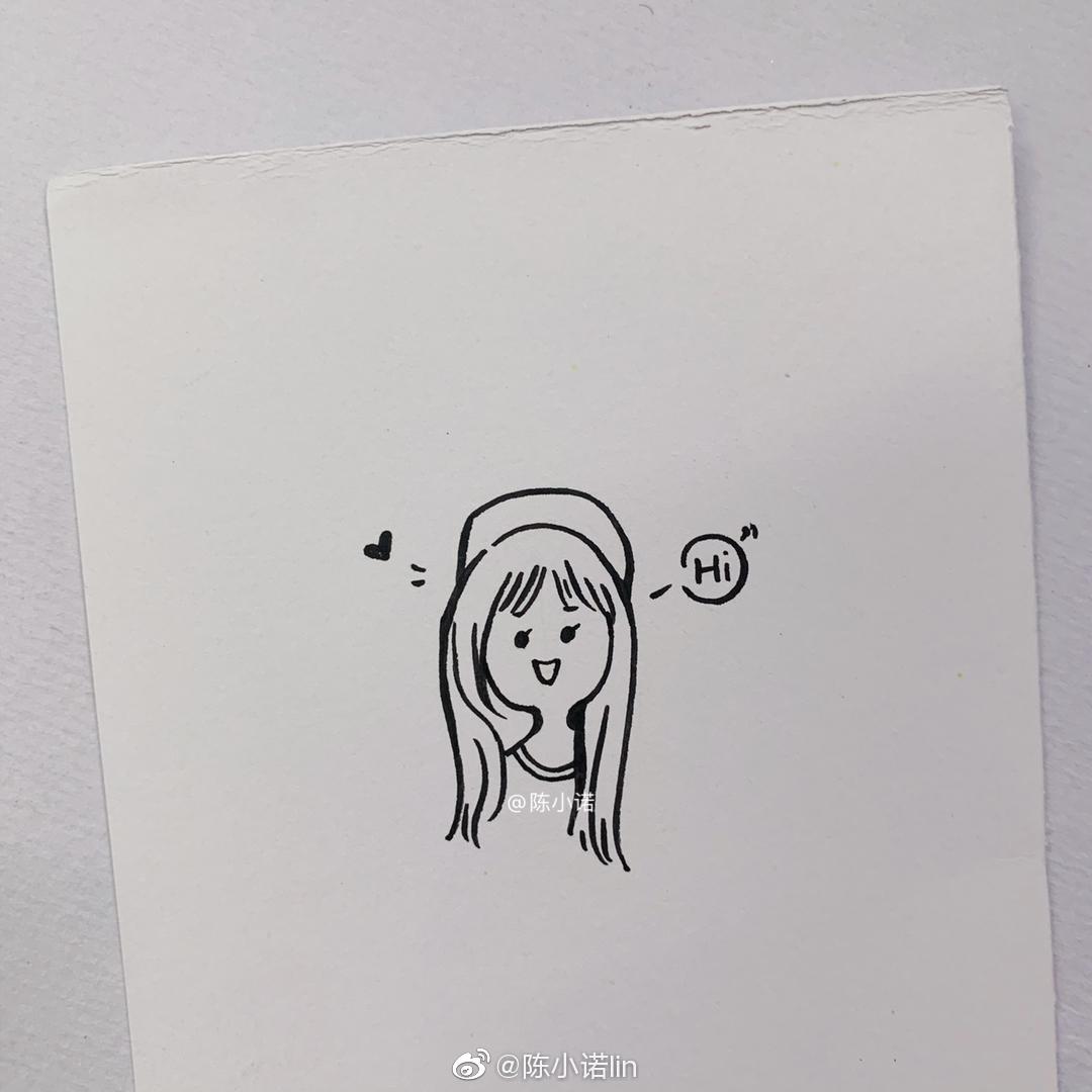 (๑˃̵ᴗ˂̵)و 简笔画小📒✏️    作者:@陈小诺lin