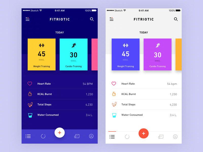 健身类App设计欣赏