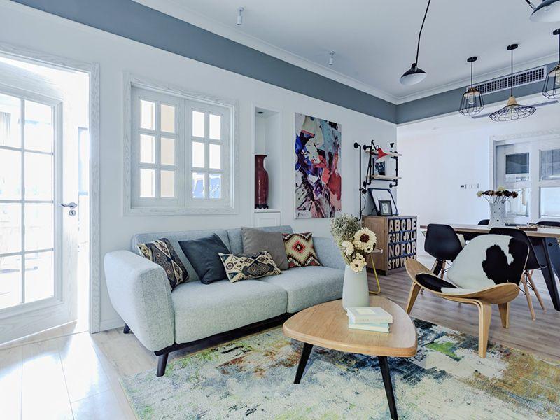 100㎡色彩明亮北欧风格三居搭配设计。(如果您也有装修需求