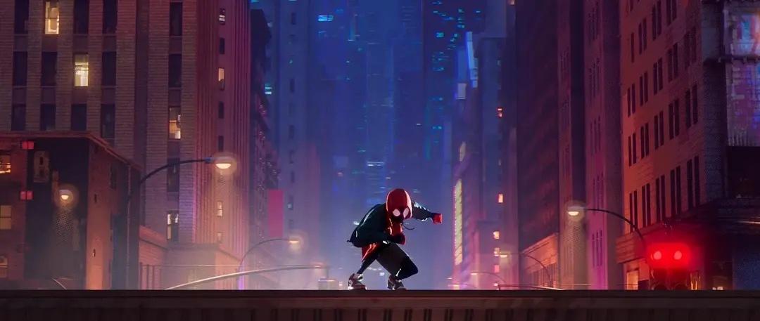 电影动画篇 | 《蜘蛛侠:平行宇宙》漫画式的视觉呈现,色彩搭配完美
