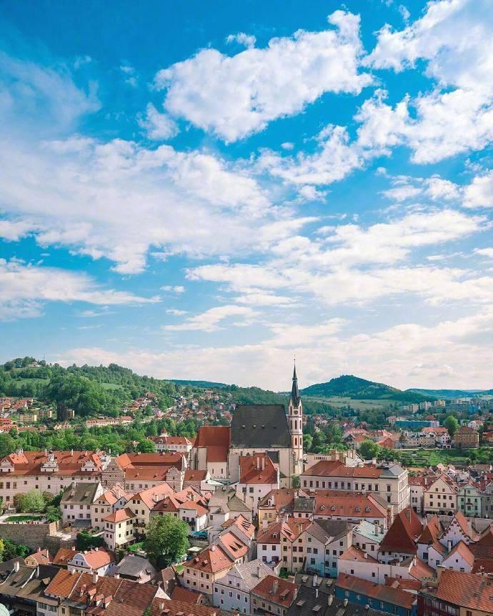 世界上最美的童话小镇——波西米亚的克鲁姆洛夫。